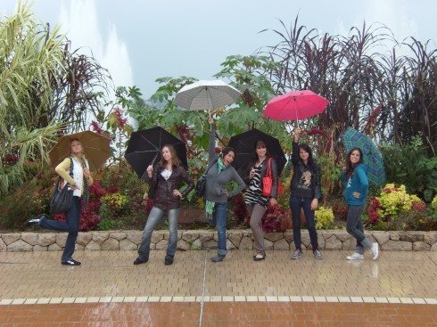 With our Umbrellas Combined! XD